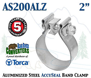 As200alz 2 Genuine Torca Accuseal Aluminized Steel Narrow Band Exhaust Clamp