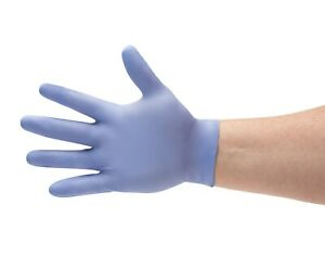 Disposable Powder Free Blue Nitrile Medical Exam Gloves Assorted Sizes