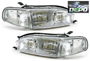 4 Pc Combo Chrome Crystal Headlights Corners By Depo Fits 1992 94 Toyota Camry