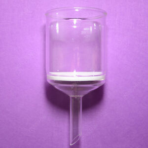 2000ml glass Buchner Funnel straight Drop Tube porosity 3 pyrex Lab Glassware