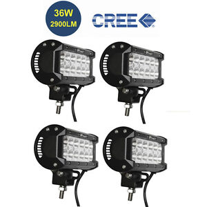 4pcs 6 5in Off Road 36w Cree Led Fog Lamp Work Light Bar For Jeep 4wd Drl Flood