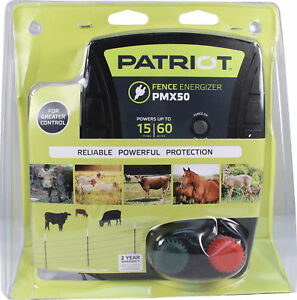 Patriot Pmx600 Electric Fence Charger Energizer 6 7 Joule 100mile 300acre 110v