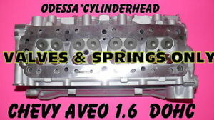 Gm Chevy Aveo 1 6 Dohc Cylinder Head 2004 2007 Valves Springs Only Rebuilt