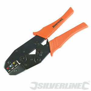 Electrical Terminal Ratchet Crimping Tool Crimper Plier Silverline 633615