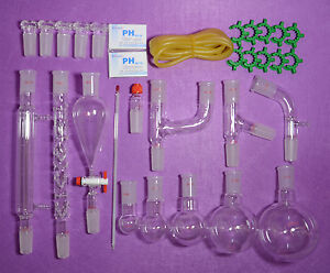 Lab Glassware Kit 24 40 primary Organic Chemistry Glassware Kit lab Glassware