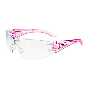 Radians Pink Temples Optima Op6710id Safety Glasses Clear Lens
