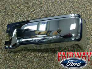 09 Thru 14 Ford F 150 Oem Genuine Ford Rear Chrome Step Bumper W Prox Rh Pass
