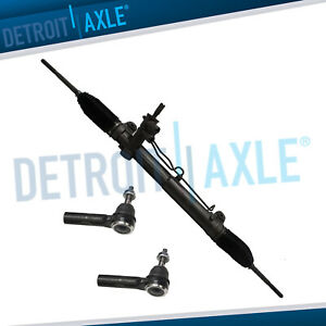 Complete Power Steering Rack And Pinion 2 New Outer Tie Rod For Chrysler 2wd