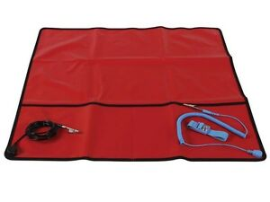 Field Anti static Mat With Ground Cord 24 X 24 As9