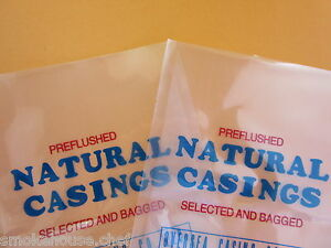 Two Packs Of Natural Hog Casings Casing For Sausage Xl Packs For 200 Lbs Meat