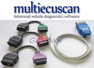 Multiecuscan non can Hardware Software Diagnostic Bundle For Fiat Alfa