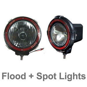 Pair 4 Inches 4x4 Off Road 6000k 55w Xenon Hid Fog Lamp Light Flood Spot 2pcs