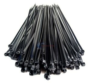 1000 Pieces 12 Black Nylon Cable Zip Wire Ties 50 Lbs Tensile 10 Packs Of 100