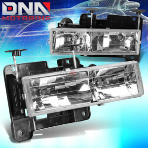 Fits 88 98 Gmc Sierra Chevy Silverado C k Truck 1500 2500 3500 Chrome Headlights