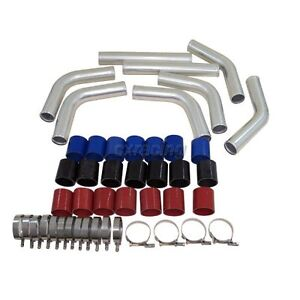 3 Universal Turbo Intercooler Piping Kit Pipe 2mm Thick