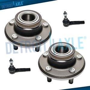 4 Pc Kit 2 Wheel Hub Bearing Assembly 2 Outer Tie Rod Links For 2wd W Abs