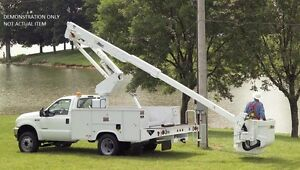 Boom Lift Altec At37g For Utility Bucket Truck Articulating Telescopic