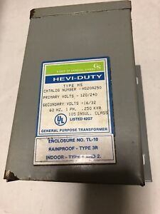 New Old Hs20a250 Heavy Duty Electric Transformer 250kva 120 240v Type Hs en