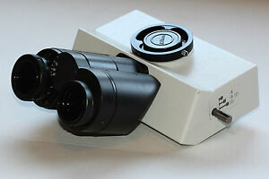 Olympus Microscope U tr30 2 Trinocular Head For Bx Series Mint Condition