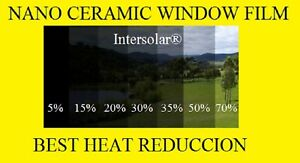 Window Film 50 Nano Ceramic Tint Residential Auto 48 X25 2ply Intersolar Usa