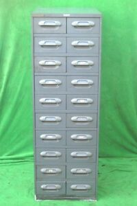 20 Drawer Tooling Hardware Storage Tool Parts Cabinet Wright Line