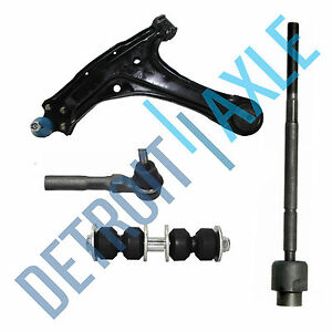 Control Arm Assembly Ball Joint Inner And Outer Tie Rod End Sway Bar Link Set