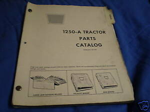 Oliver 1250 a Tractor Parts Catalog