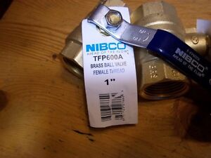 2 Nibco 1 Inch Brass Ball Valve Tfp600a Hot cold Water gas Full Port