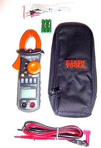 Klein Tools Cl200 600a Ac Clamp Meter W Temperature Multimeter Clampmeter New