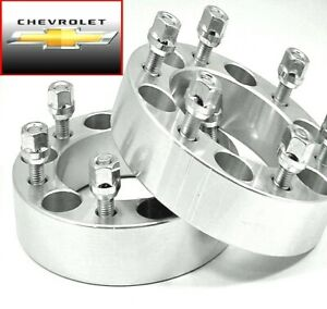2 Pc Chevy K 1500 Wheel Spacer Adapter 1 50 Inch With Lug Nuts 6550c1415