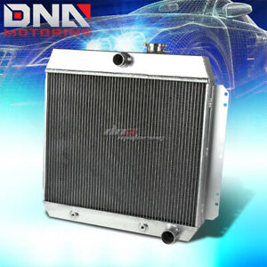 For 1949 1954 Chevy Style fleetline bel Air 3 row Full Aluminum Racing Radiator