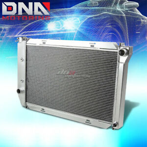 For 1971 1973 Ford Mustang Country Sedan Squire 3 Row Aluminum Racing Radiator