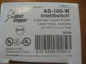 New Watt Stopper As 100 w Inteliswitch Automatic Control Switch