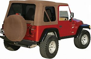 New Jeep Wrangler Soft Top 1997 2006 Spice almost Tan Fits Full Steel Doors Tj