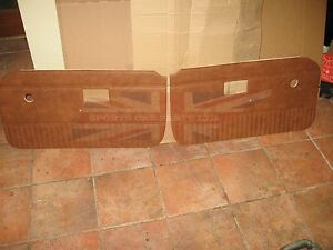 New Pair Of Door Panels For Mgb 1970 76 Made In Uk Autumn Leaf No Chrome Strip