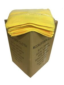 240 Case 12 x12 300gsm Microfiber Dairy Towels Udder Cloths yellow