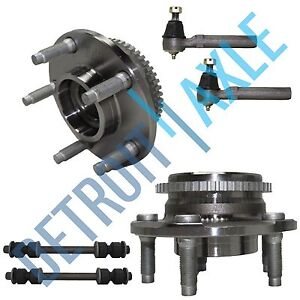 1994 2004 Ford Mustang Front Wheel Bearing Pair Outer Tie Rod Sway Bar Link Kit
