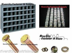 Grade 8 Bolt Nut And Washer Assortment Kit 1500 Pc With 40 Slot Storage Bin
