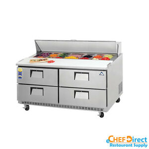 Everest Epbnwr2 d4 60 Four Drawer Sandwich Prep Table