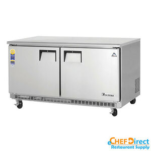 Everest Etbwf2 60 Double Door Undercounter Freezer