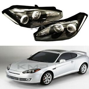 Oem Parts Head Light Lamp Assembly Lh Rh Fit Hyundai 2007 2008 Tiburon Coupe