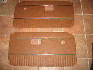 New Pair Of Door Panels For Mgb 1970 76 Autumn Leaf W Chrome Strip Made In Uk