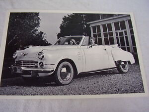 1948 Studebaker Convertible Large 12x18 Picture Photo