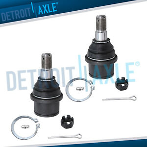 Pair New Driver Passenger Front Lower Ball Joint For Dodge Ram 2500 3500 2wd
