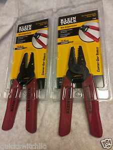2 Pack Klein 11046 16 26 Awg Stranded Cutter wire Strippers Red Security Install