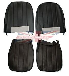 New Black Front Seat Covers Upholstery Mg Midget 1970 1979 Oe Quality Made In Uk