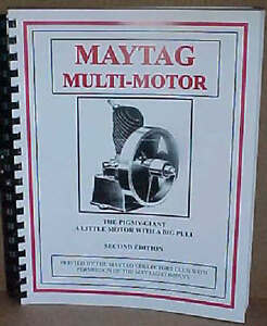 Maytag Multi motor Book Manual Upright Fruit Jar 82 92 72 Elgin Gas Engine