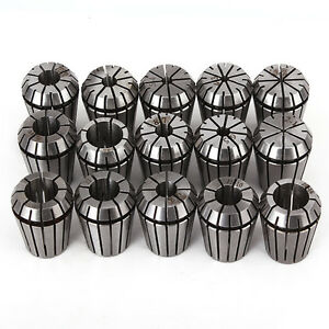 Er25 Spring Collects Set Cnc Milling Highly Clamping Force Pack Of 15