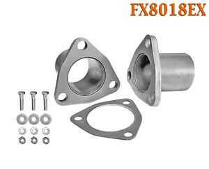 Fx8018ex 2 Id Universal Quickfix Exhaust Triangle Flange Repair Pipe Kit Gasket