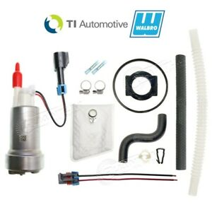 Genuine Walbro Ti F90000295 535lph High Performance E85 Fuel Pump Mustang Kit